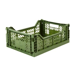 Turkey Aykasa Folding Storage Basket (M) - Army Green