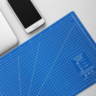 Lightweight odorless cutting pad (A3) cyan translucent / art professional use