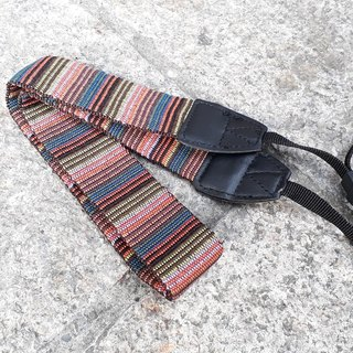 AMIN'S SHINY WORLD featured double-sided national striped camera strap