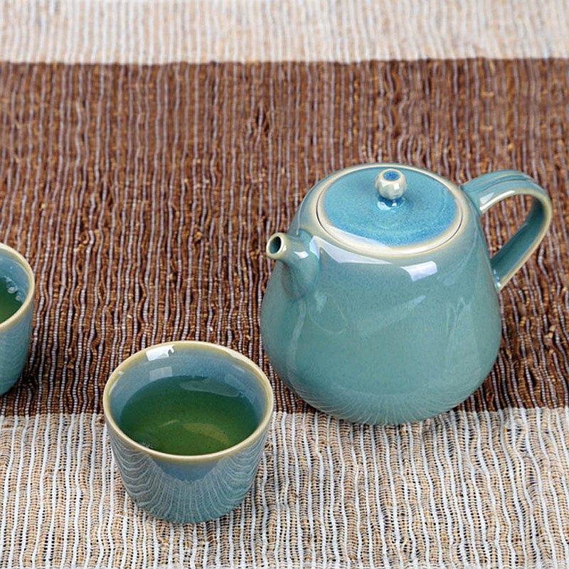 綠兔毫釉茶壺(200ml)