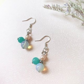 Puputraga Shangcai Caihua Life/Natural Aquamarine Series Handmade Earrings