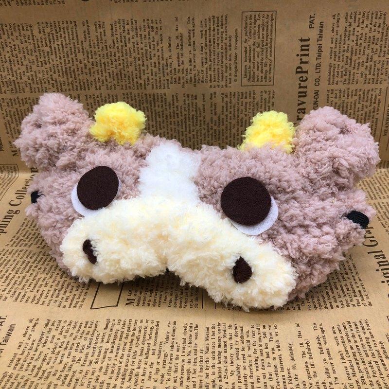 棉花糖動物眼罩-巧克力牛