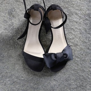 [Mrs. Shopaholic] Two Words Sandals with Belts_Elegant Black