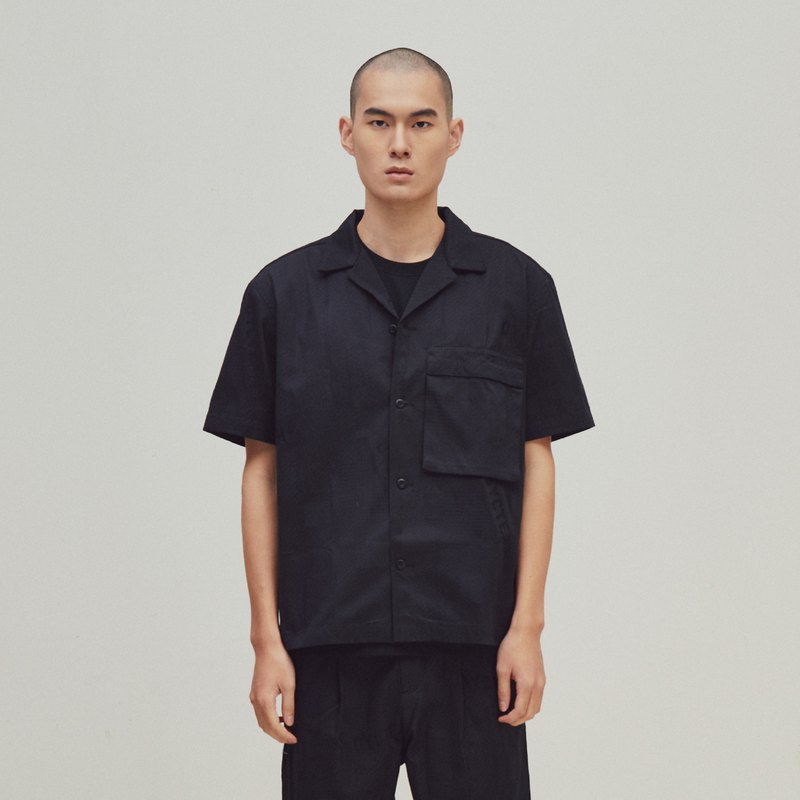 DYCTEAM - EVOLVE(D) - Black Logo jacquard shirt