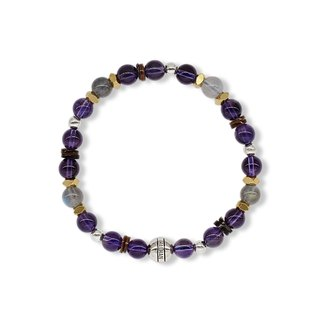 String Series First Night Bracelet 925 Sterling Silver Brass Labradorite Amethyst Shell