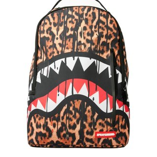 【SPRAYGROUND】 DLX Series Leopard Drips Leopard Shark Trends Backpack