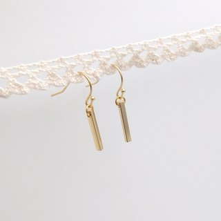 Copper plating 18K gold stick earrings ear hook