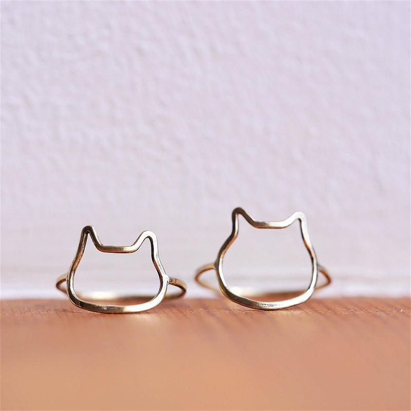 新的Nyan和Kyasha貓戒指材料黃銅