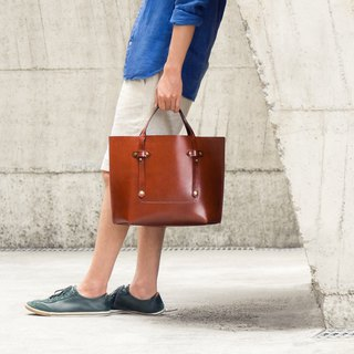 Tote Portable + Cross-body Tote Bag / Classic Wine Red Brown Cow Leather / One-piece Ultra Lightweight