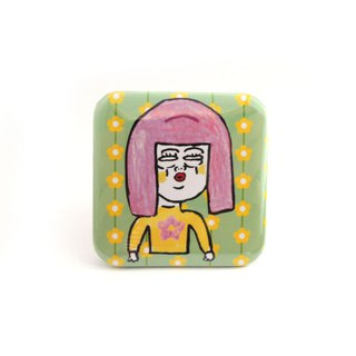girl square pin