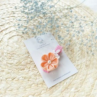 Children headdress. And the wind flower hairpin / Liuhai folder hair ornaments (light orange)