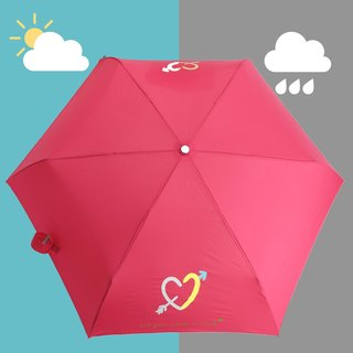 [Taiwan's Creative Rain's talk] Declaration of love discoloration anti-UV fold umbrella hand