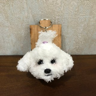 Little Mar dog head tied hair [feiwa 霏 手 hand] pet doll (spot area) key ring