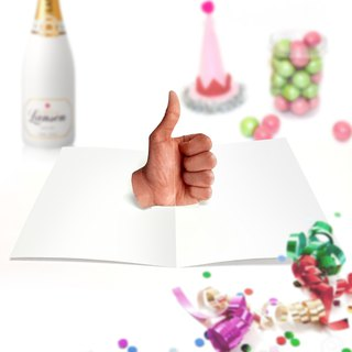 Well Done Card | Thumbs Up Card | Pop Up Card