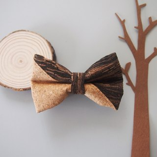Personalized Name Mixed Cork Mens Bowtie
