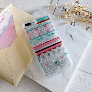 PATTERN LAB | Liquid Glitter Case for iPhone 8/7/6s Plus - Triangles