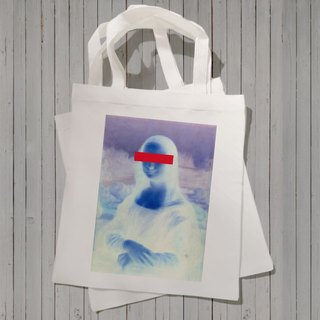 MONAcensoredLISA Canvas Tote Bag