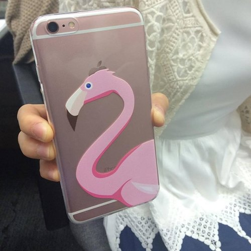 Custom bulk flamingo transparent Samsung S5 S6 S7 note4 note5 iPhone 5 5s 6 6s 6 plus 7 7 plus ASUS HTC m9 Sony LG g4 g5 v10 phone shell mobile phone sets phone shell phonecase