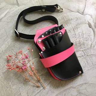 KAKU leather design scissors bag custom-made custom pink 7 capacity