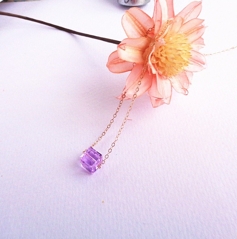 A wonderful person - Violet Fantasy Austrian crystal necklace