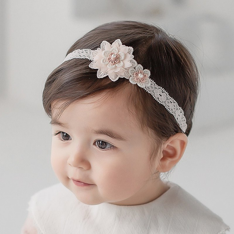 Happy Prince Korea made Heaney lace flower baby girl and children headband