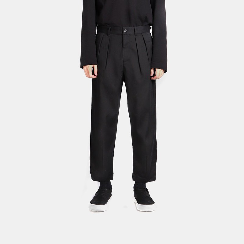 Double fold eight suit pants