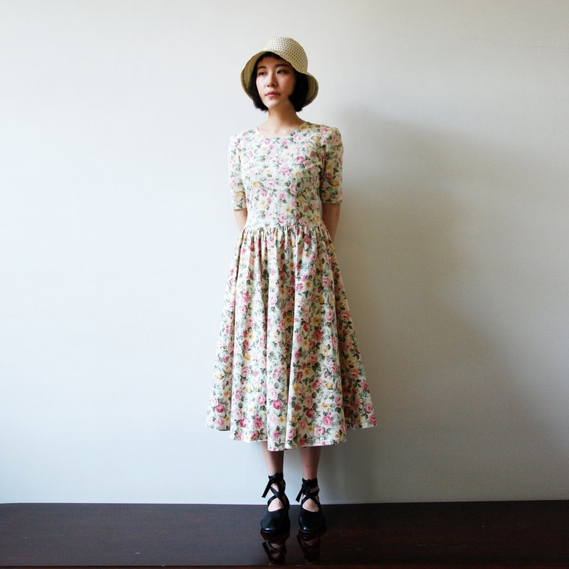 Vintage Romantic Garden Dress