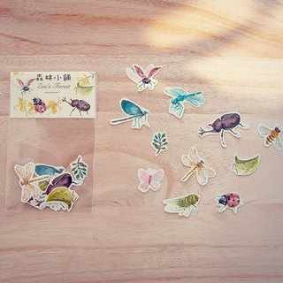 Zoe's forest insect party sticker