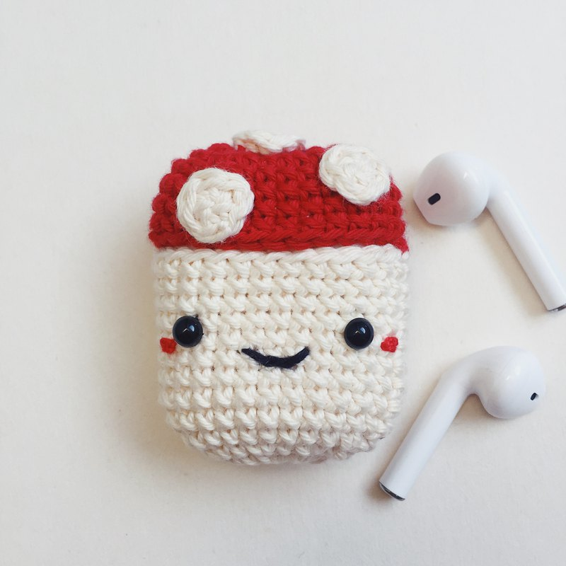 Airpods 1/2 Crochet Case | The Mushrooms | Cute Case, airpods 2 保護套