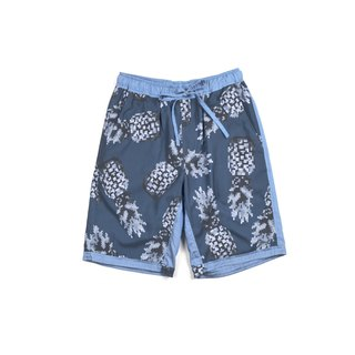 oqLiq - AdHeRe - Mosaic Pineapple Duplex Shorts (Light Blue)