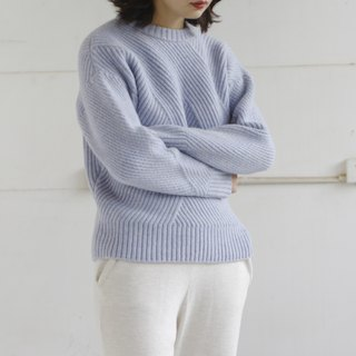 KOOW Daydream blue Japan imported full wool knit sweater rough thick thick thick sweater pit