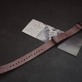 NATO strap water ghost military table for Italy imported wax wax wine red leather handmade leather custom