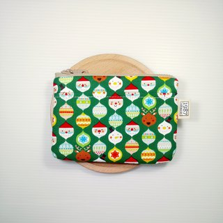 [Green husband] Coin purse clutch bag with zipper bag Christmas exchange gift