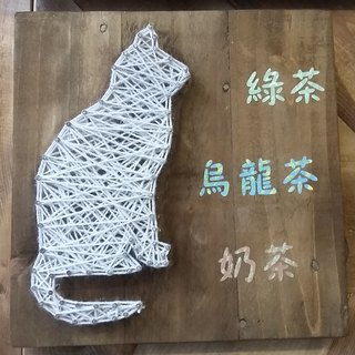 [6618 yo tail] cat decorations wall hangings wood work home layout family pets