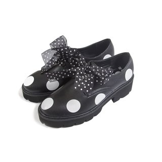 Little lace black leather shoes lambskin shoes - imakokoni