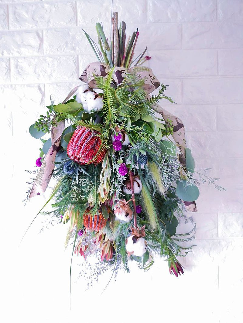 【เวิร์คช็อป】Natural style upside down hand tied bouquet course (flowers become dry flowers)