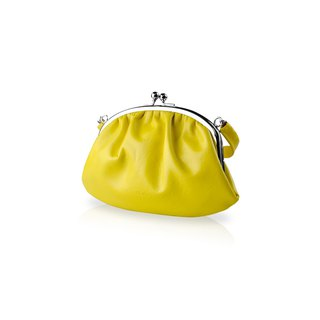 【LIEVO】 SMILE - Leather Handbag Gold_ Yellow (iPhone 5 / 4 screens are suitable for mobile phones)