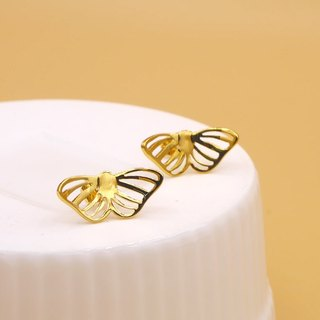 Mini Butterfly Earring - 18K gold plated on brass