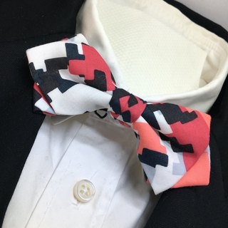mosaic bowtie butterfly red