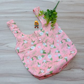 [Waterproof Shopping Bag] Pink Flower (Large)