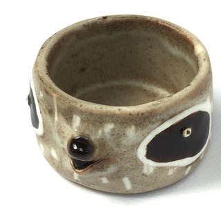 Raccoon,Small cup , handmade ceramic