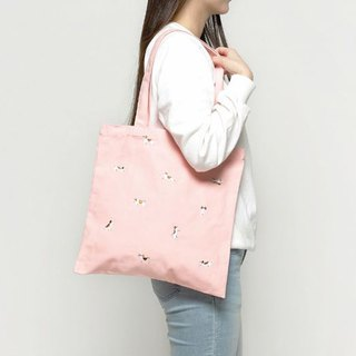 LINE CHARACTER single shoulder portable embroidery canvas bag