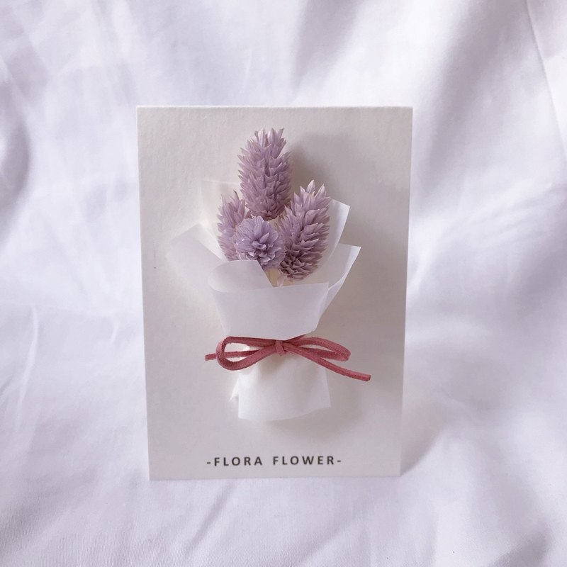 Dry flower card - Hermes paper / dried flower / hand card / birthday card / opening card / congratulatory card