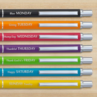 【IWI】 Message Pen Information Pen 0.5mm Blue Oil-based Atomic Pen-7 Color Equipment (IWI-3H920-Week)