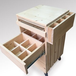 [Bear Ken Woodworking Workshop]//Customized// Multifunctional Mobile Easel