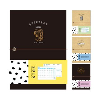 Ching Ching X Simple Life CDM-239 2019 32K New Year's Day Two-color Paper Book Jacket