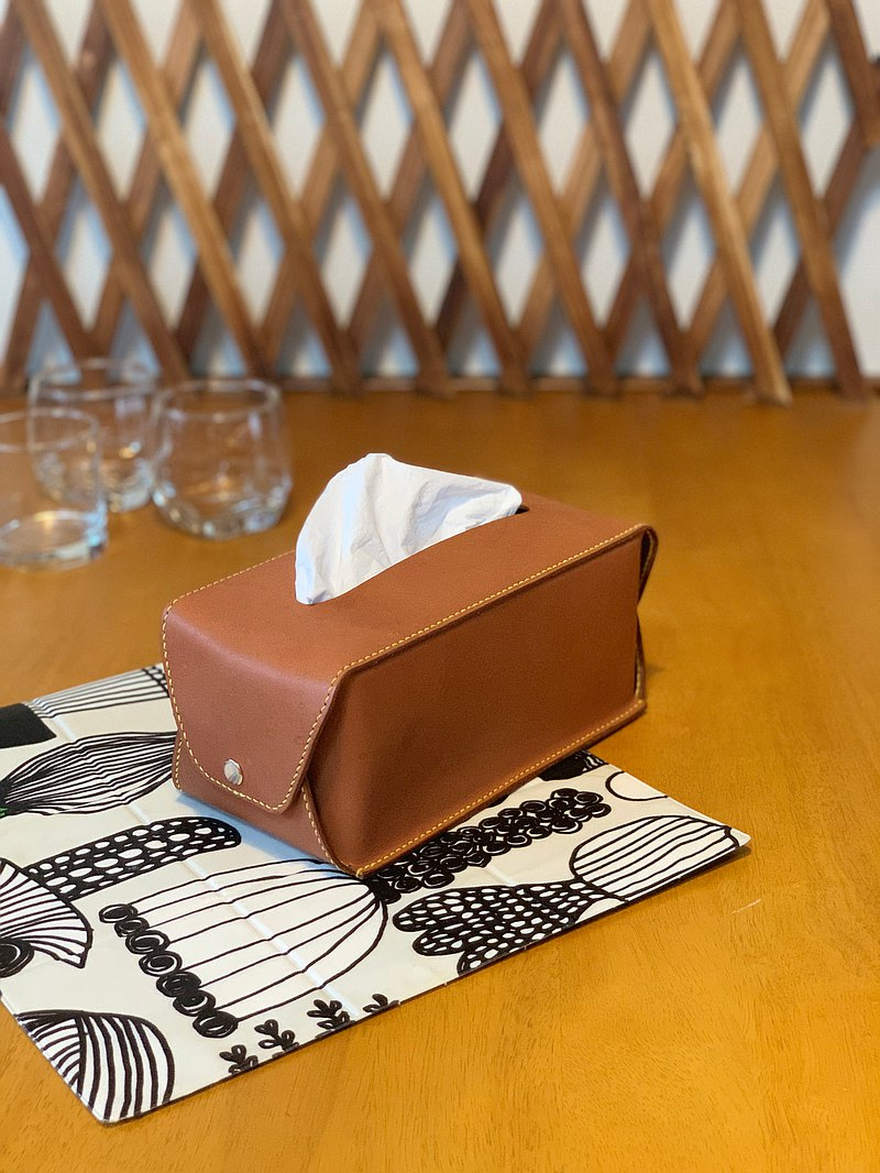 【Mini5】Handmade leather carton cover (brown)