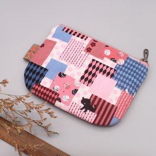Ping Le Small Wallet - Fun Park and Black Cat, Double-Sided Small Wallets