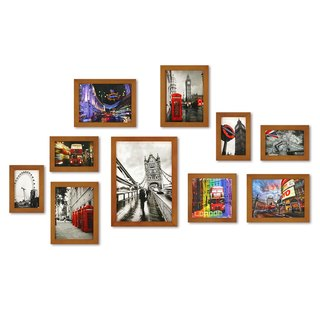 HomePlus Photoframe Brown 10PCS City Decor Loft