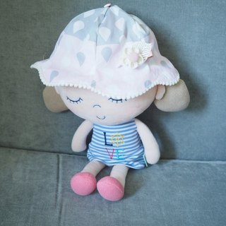 Handmade water drop pattern baby/ kid hat with hair clip set